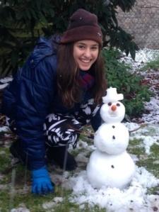 Athena's snowman